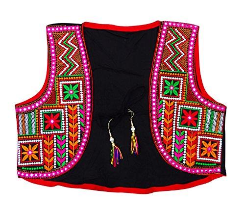 Peegli Women's Ethnic Kutch Embroidered Banjara Jacket Indian Shrug Koti Choli ()