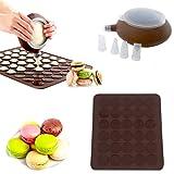 SOEKAVIA Macarons Mat stampo da forno in silicone Macaron Teglia Mat Muffin DIY Chocolate Cookie Modalità Mould 48-Capacity