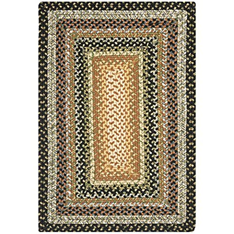 Safavieh Braided Collection BRD308A Hand Woven Blue and Multi Area Rug (2' x 3') (Cotton Area Rugs 2x3)
