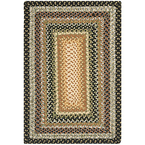 Safavieh Braided Collection BRD308A Hand Woven Blue and Multi Area Rug (2' x (American Braided Rugs)