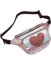 Emorias 1 Pcs Estuches Almacenamiento Mujer Láser Bandolera para Viaje Deportivo Bolsa de Cintura Riñonera Ocio