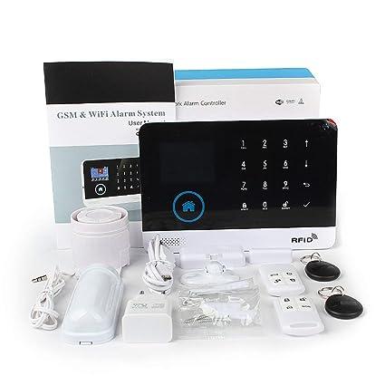 Pudincoco WiFi + gsm Alarma Host Pantalla LCD Teclado táctil ...