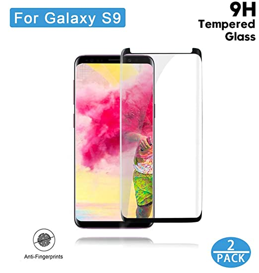 Galaxy S9 Screen Protector, COREFYCO Tempered Glass Screen Protector [Case Friendly] [HD Clear] [9H Hardness] [2 Pack] for Samsung S9