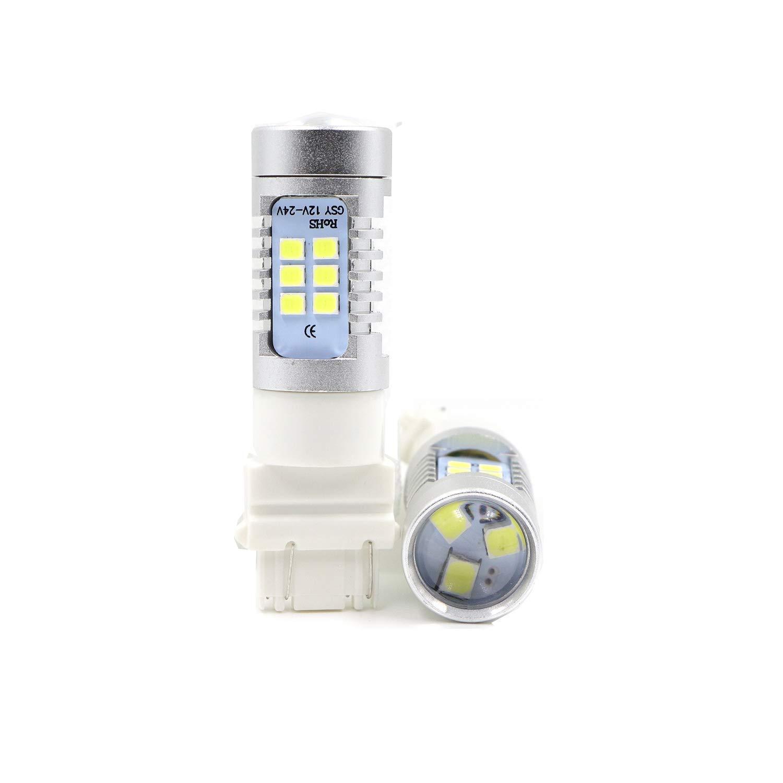 2pcs 3057 3156 3157 4057 4157 White LED Bulbs Backup Light Reverse light 1260 Lumens 21SMD Extremely Bright