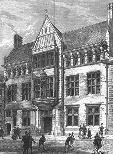 - BERKSHIRE. Albert Institute of Windsor and Eton. Prince of Wales - 1880 - old antique vintage print - engraving art picture prints of Berks Buildings - Illustrated London News