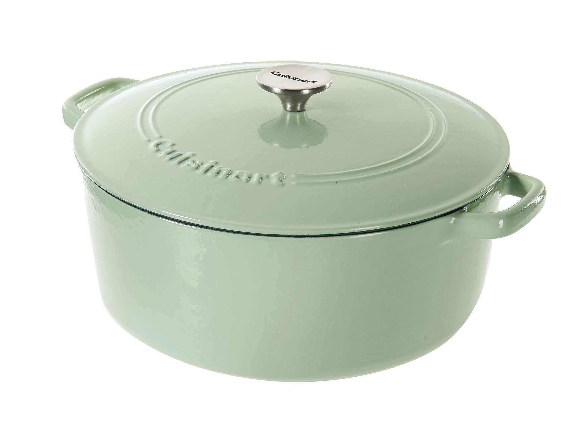 Cuisinart Cast Iron Casserole, Mint Green, 7 Quart