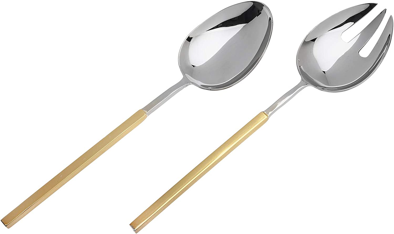 Godinger Stainless Steel Salad Spoon Fork Serving Set of 2 piece