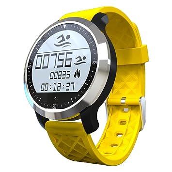 sununitec F69 IP68 impermeable Natación reloj inteligente llamada mensaje recuerdan reloj de pulsera Monitor de sueño Rastreador de salud para iOS y Android ...