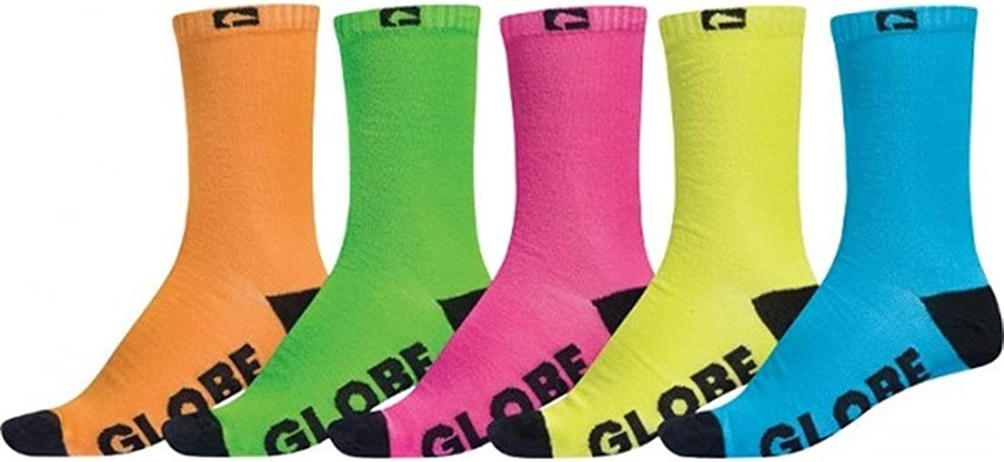 Globe Fluro 5 Pack Ankle Socks