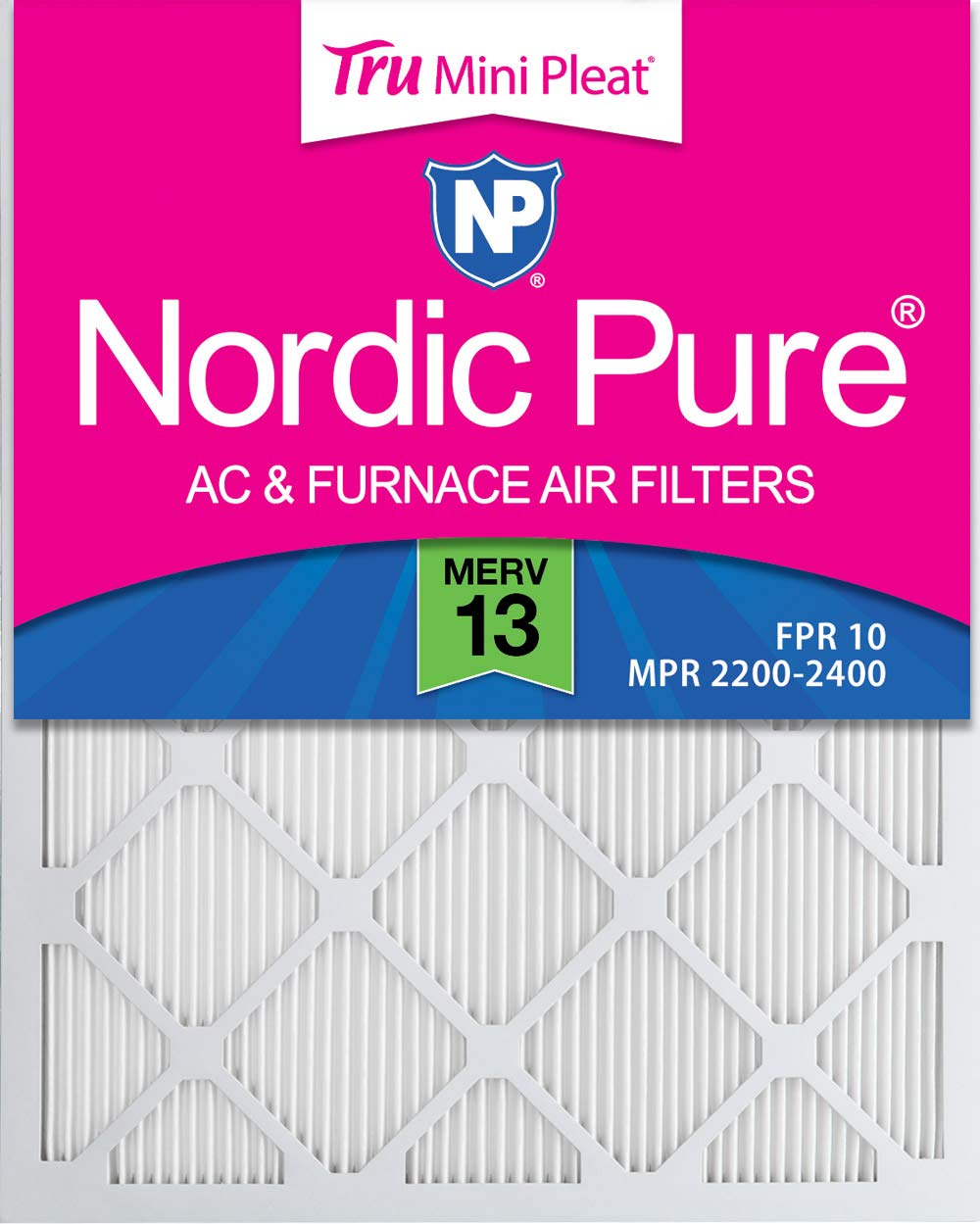 Nordic Pure 18x36x1 MERV 13 Tru Mini Pleat AC Furnace Air Filters 4 Pack