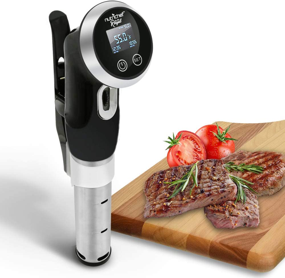 NutriChef PKPC235BK.5 Royal Sous-Vide Immersion Circulator Cooker, One Size, Assorted