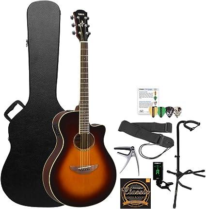 Yamaha 6 cuerdas guitarra acústica eléctrica, viejo violín ...