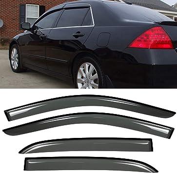 Fits 03-07 Honda Accord Sedan 4Dr Window Visors Smoke Guard Vent Shade Deflector