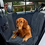 Dog Car Seat Cover with Mesh Viewing Window,Waterproof Non-Scratch Pet Seat Protector Cover Large Back seat Cover with a Storage Pocket for Dog,Cat, Travel Hammock Convertible for Cars, Trucks,SUV