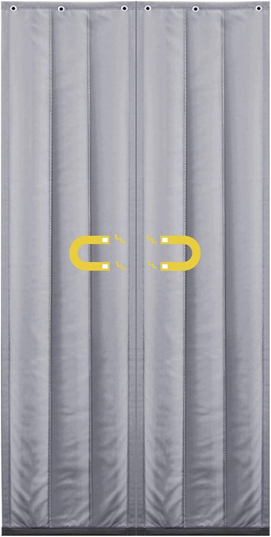 Magn/ético Autocebante Insonorizar Cortina De Puerta De Algod/ón Invierno A Prueba De Viento Mantener Caliente Puerta del Patio WUZMING-Cortina T/érmica Magn/ética Para Puerta