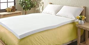 Comfort Revolution 3 inch Memory Foam Mattress Topper, Queen