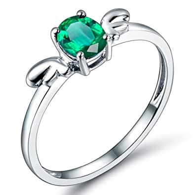 a69dc1ebf0203 Lanmi Jewelry Vintage 18kt White Gold Natural Green Emerald Rings ...