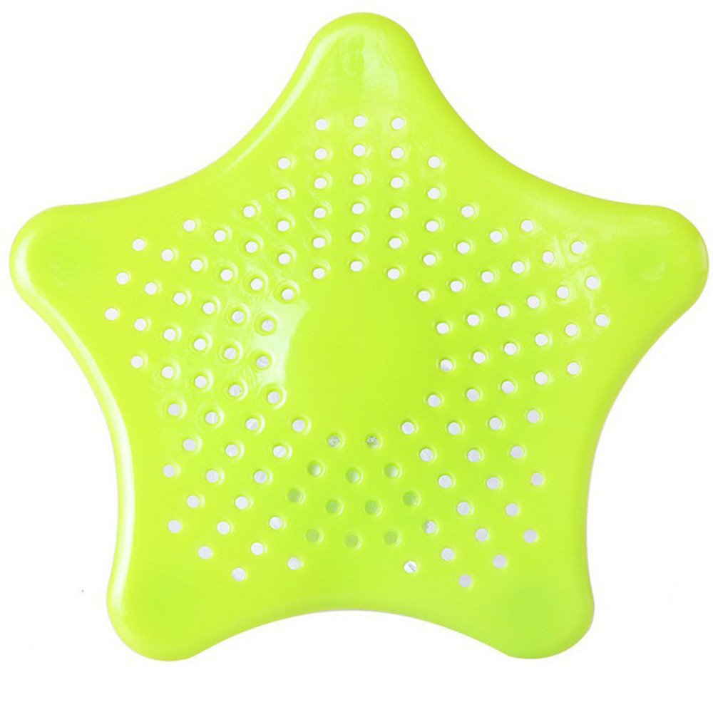 Alelife Star Bathroom Drain Hair Catcher Bath Stopper Plug Sink Strainer Filter Shower Towels Bath Tool Green