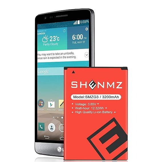 Lg Li Ion Battery >> Amazon Com Shenmz Lg G3 Battery Upgraded 3200mah Replacement Li