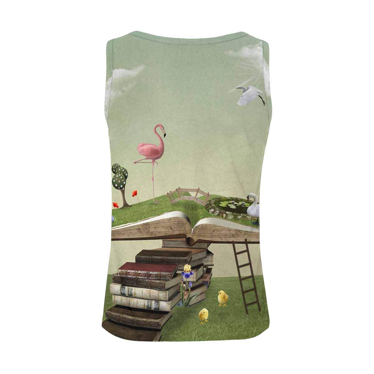 INTERESTPRINT Women Round Neck Sleeveless Blouse Casual Ladies Waistcoat Tank Tops,S-XXL
