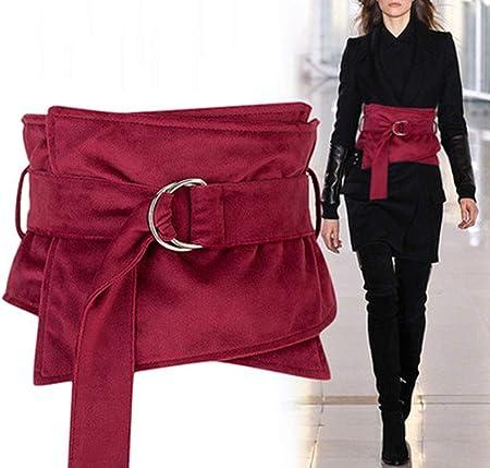 TINERS Faja de Tela de Terciopelo de Cinta de Moda, Camisa Decorativa Ancha para Mujer, suéter, Falda, Abrigo, cinturón: Amazon.es: Hogar
