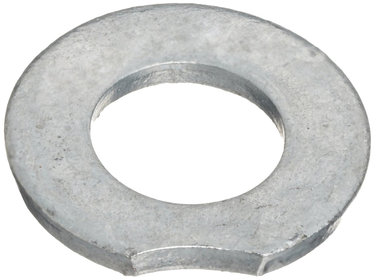 Steel Flat Washer, Hot-Dipped Galvanized Finish, ASTM F436 Type 1, 1/2'' Screw Size, 17/32'' ID, 1-1/16'' OD, 0.135'' Thick (Pack of 50)