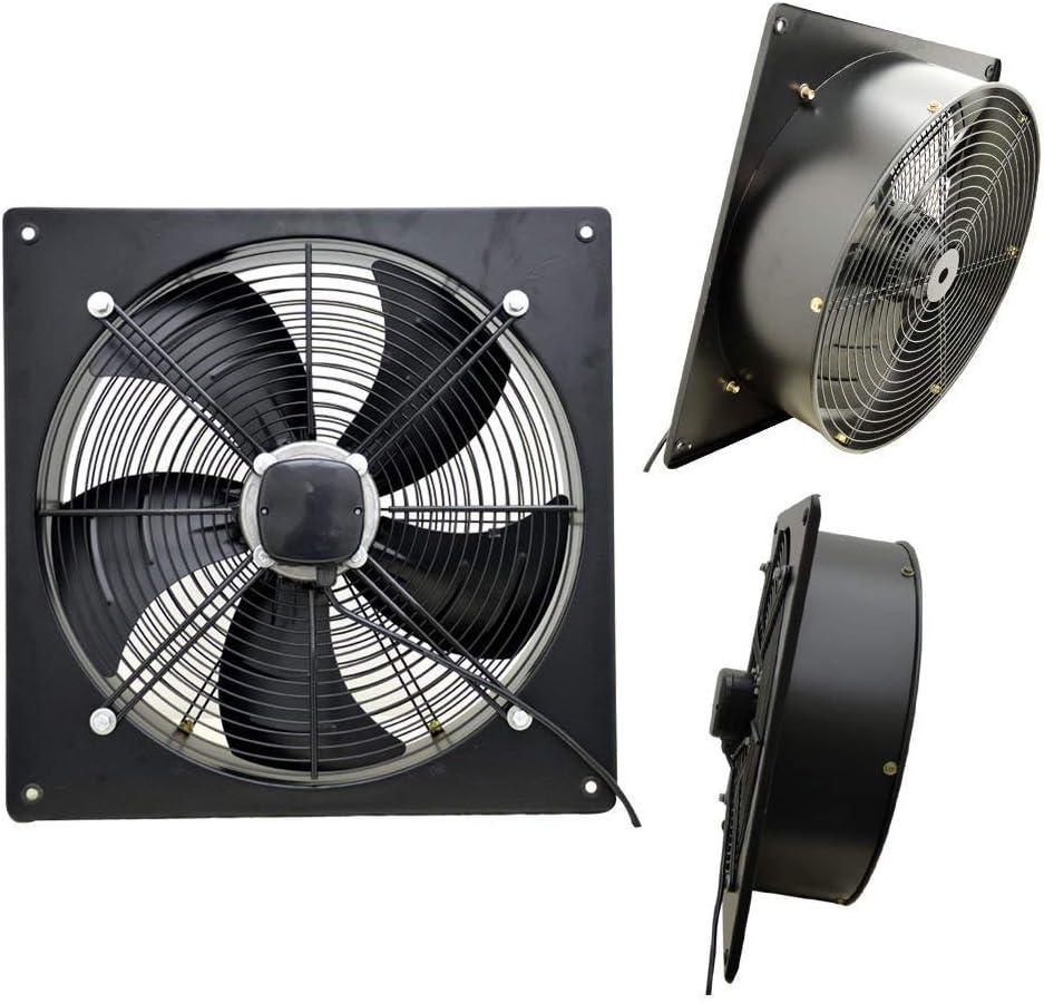 Industrial Metal Extractor Ventilación de escape Axial Soplador de aire comercial ventilador cogollo grandes para taller almacén tiendas 350mm / 14
