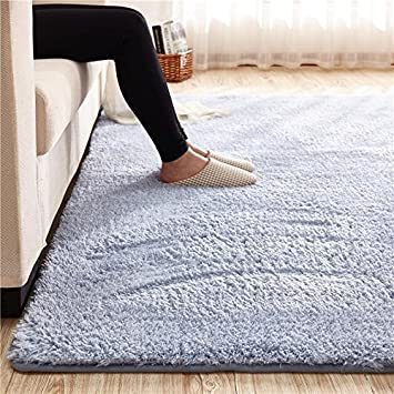 super soft blue gray area rug kids rugs artic velvet mat with plush and fluff for