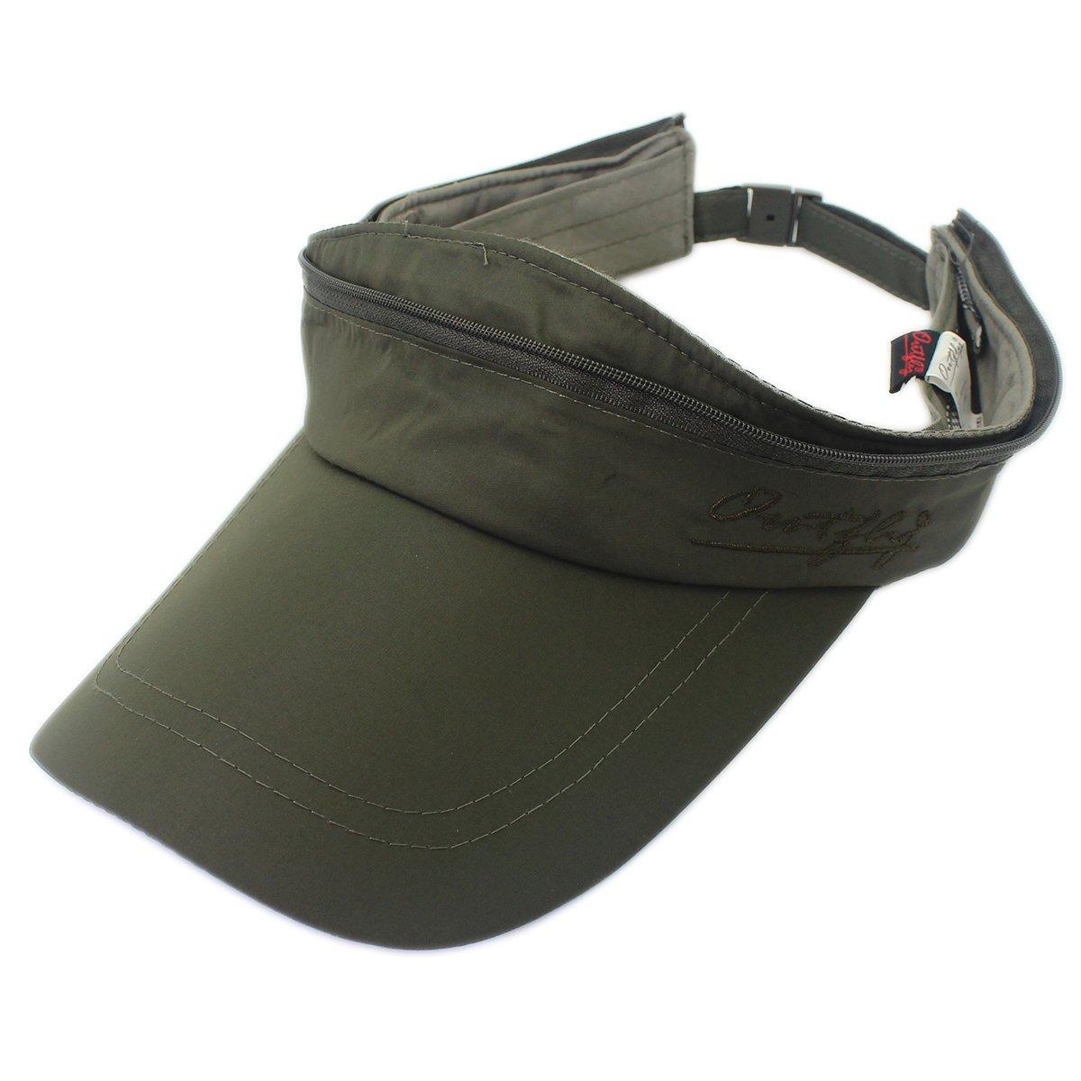 outfly Dual-Purpose Sunshade Visors Men's Summer Sunhat Baseball Cap Army Green Cap