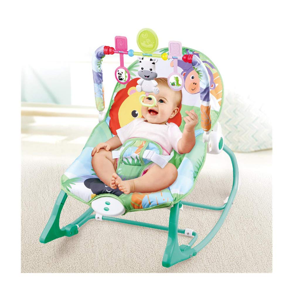 JFMBJS Baby Electric Rocker Chair, Portable Baby Music Vibration Comfort Bouncer, Multifunctional Rocking Chair Toy for 0-3 Years Old Baby by JFMBJS