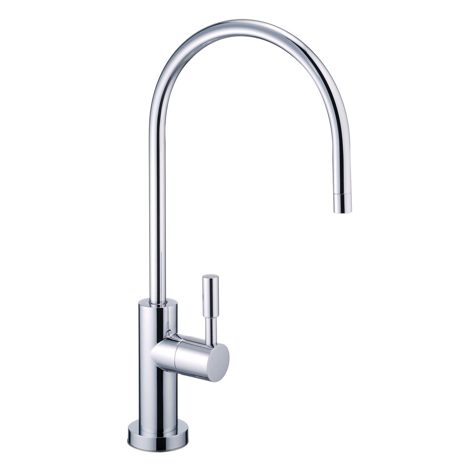 NSF 100% Lead Free Faucet Kitchen Sink Drinking RO Water Filter Reverse Osmosis Faucet Non Air Gap Brushed Nickel (Luxury Chrome)