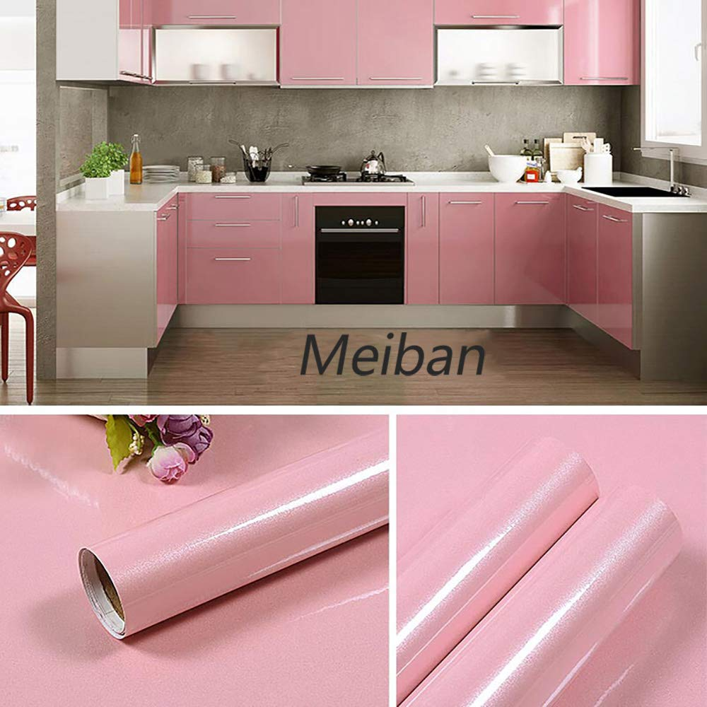 Contact Paper Self Adhesive Vinyl Film PVC Pearl Purple Wallpaper Durable Kitchen Stickers Bathroom Waterproof Shelf Furniture Removable Counter Wall Table Peel Stick 30cm*3m Stain-Resistant DIY