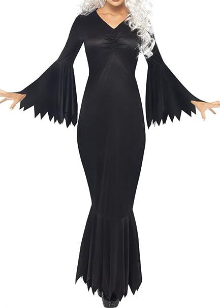 Ruiyige Vestido de Fiesta de Halloween de Las Mujeres Vestido de Boho Gitano Vestido Largo de la Llamarada de Smocked Renacimiento Vestidos Maxi de Tiered: ...