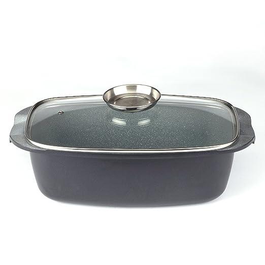 Cacerola de horno con tapa de cristal Royalty Line 32 cm: Amazon ...