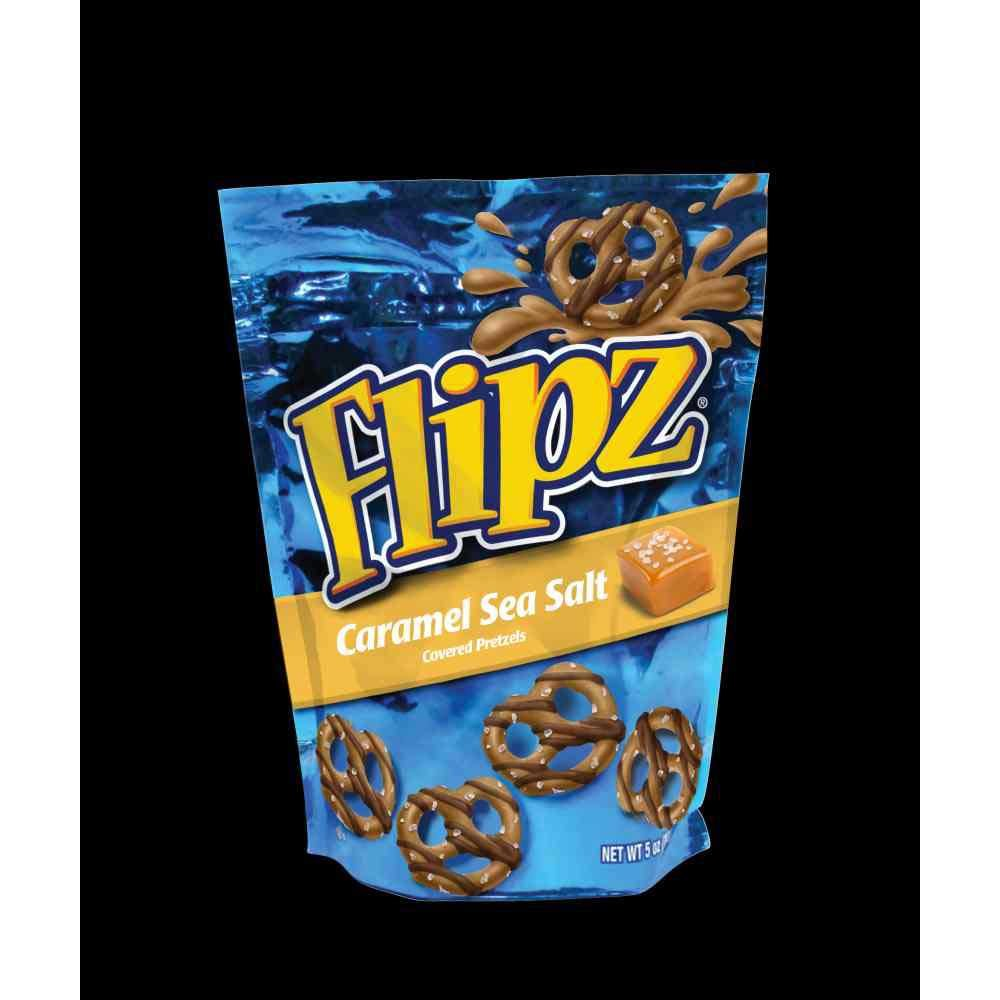 Flipz Caramel Sea Salt Covered Pretzel, 7. 5 Ounce -- 8 per case.