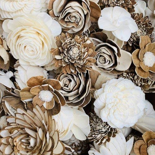 Pack of 50 Wood Flowers