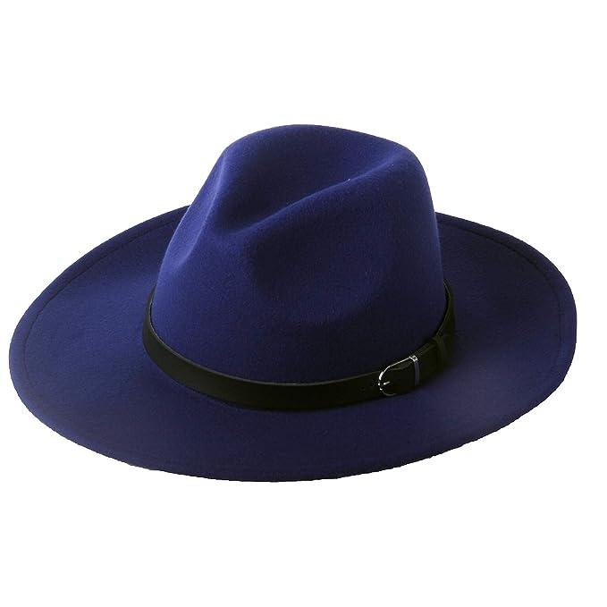 Dantiya Fedora Panama - Gorro de Lana con cinturón para Mujer 6557793b250