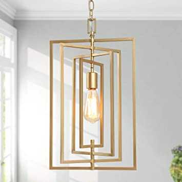 Ksana Gold Chandelier Pendant Lighting For Kitchen Island With Adjustable Framework W12 Xh20 4 Amazon Com