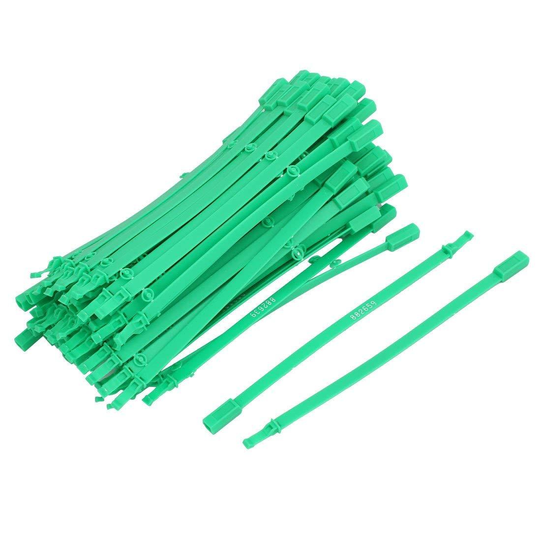 100 piezas Sujetacables de nailon cinchos autobloqueantes verde ...