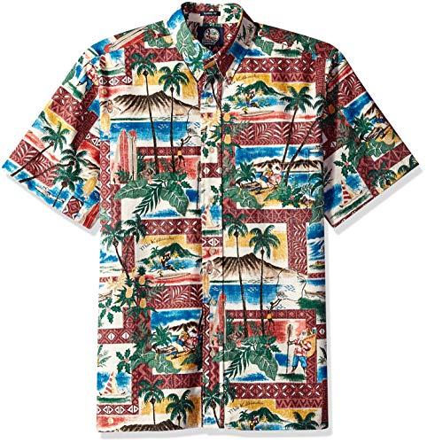 Reyn Spooner Men's Christmas Spooner Kloth Classic Fit Shirt, 2018-Maroon, XL