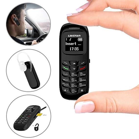Amazon.com: L8star Mini teléfono móvil pequeño BM70 GSM ...
