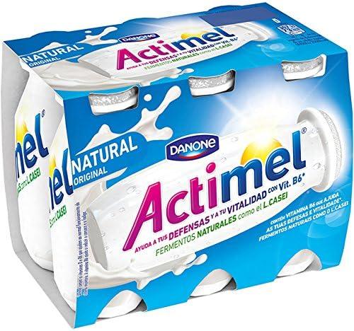 Danone Actimel Natural Yogur Líquido - Pack de 6 x 100 g ...