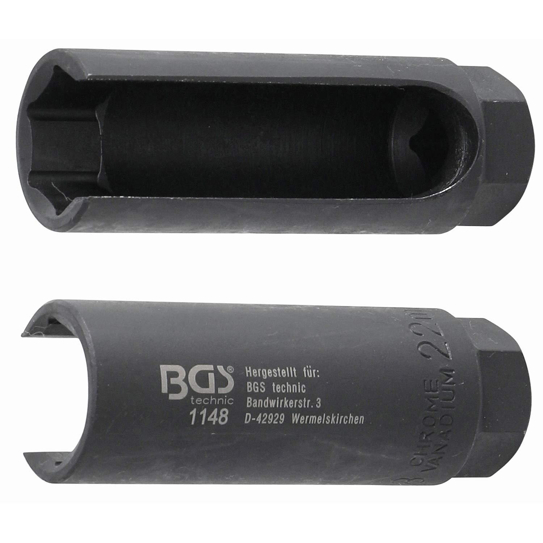 BGS 1148 Douille pour sonde Lambda hexagonale, Noir, 3/8' 22mm 3/8 22mm BGS technic KG