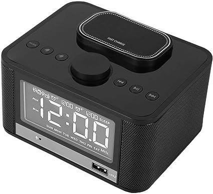 Reloj Despertador Radio Altavoz Bluetooth Pantalla LED Radio FM ...