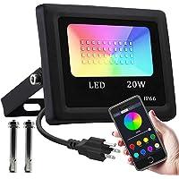 Reflector LED RGB inteligente, máx. 6500 K, mín. 2700 K, 16 millones colores, temporización, sincronización música…