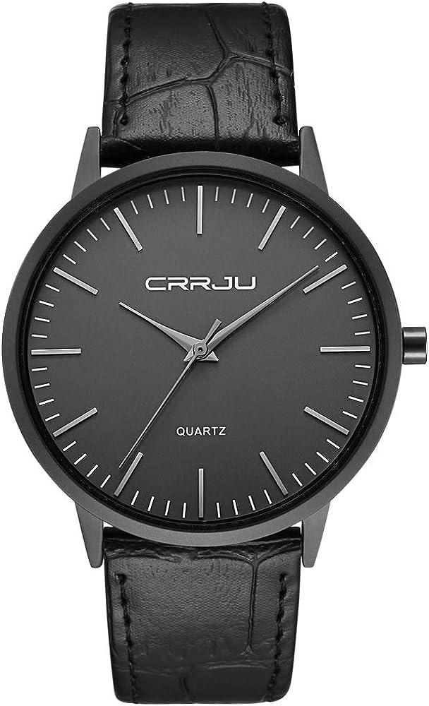 Relojes Hombre De Malla Ultra Fino Negro para Hombres Relojes De Pulsera De Moda Minimalista Relojes Hombre Casual Reloj Hombre De Cuarzo Impermeable