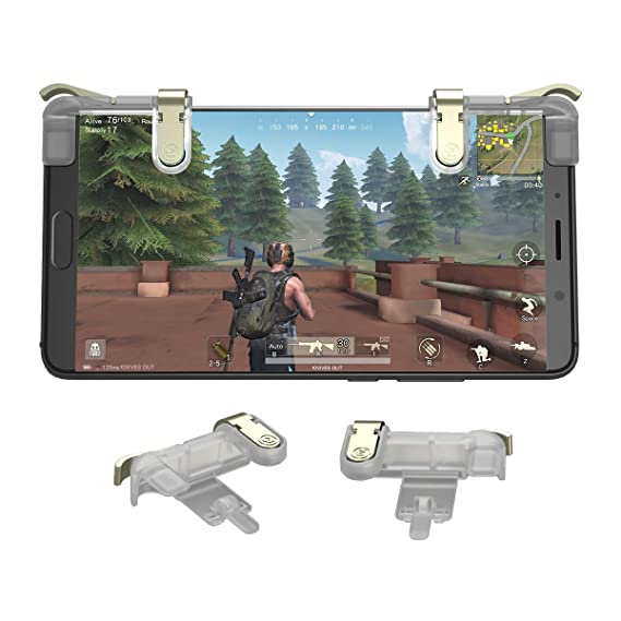 GameSir L1R1 Mobile Trigger Joystick, Fortnite PUBG Mobile Game Controller  Sensitive Shoot Aim Buttons (1 Pair)
