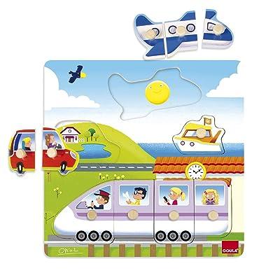 Goula - Puzzle Viaje, 28 x 28 cm (53047): Juguetes y juegos