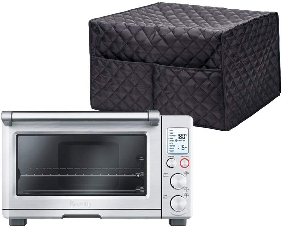 Convection Toaster Oven Cover,Smart Oven Dustproof Cover Large Size Cotton Quilted Kitchen Appliance Protector Storage Bag With 2 Accessary Pockets, Machine Washable CYFC40(only Cover)