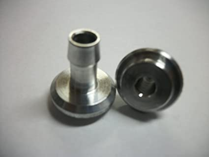 "FID-Turbo 3/8"" Hose Barb Weld Fitting - Aluminum"